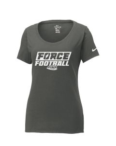 6325QBKN - Nike Ladies Core Cotton Scoop Neck Tee